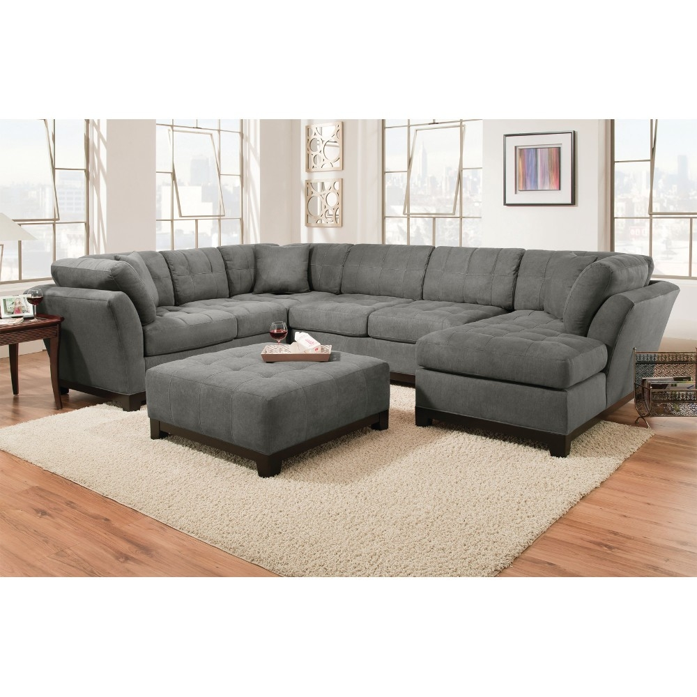 Manhattan Sectional Sofa Loveseat Rsf Chaise Slate Within Corinthian Sectional Sofas (#9 of 12)