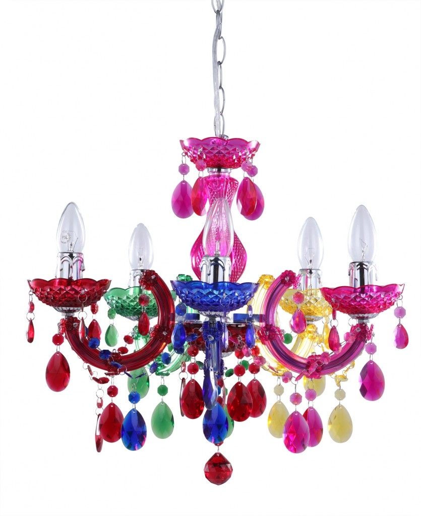 Marie Therese Dual Mount Multi Coloured Chandelier Mollys Pertaining To Coloured Chandeliers (#7 of 12)