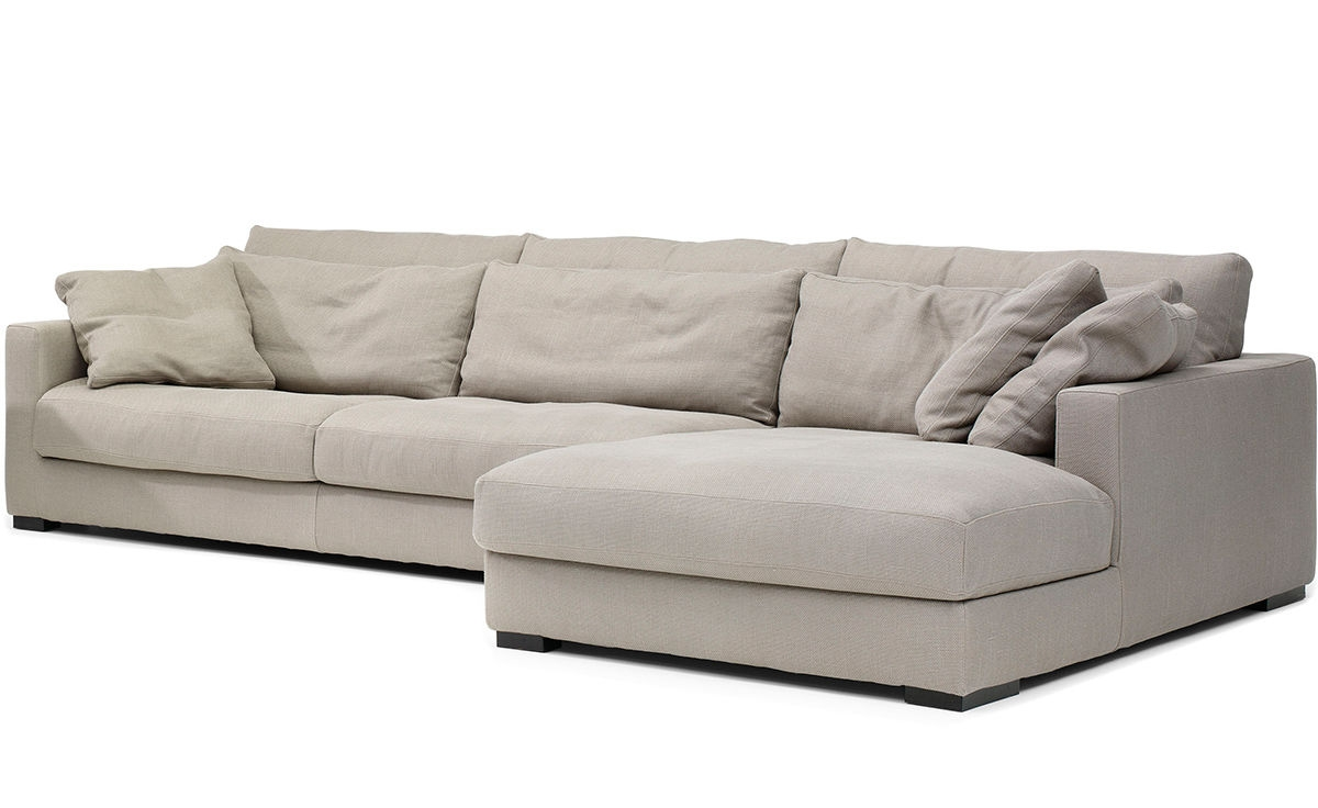 Mauro Sectional Sofa Hivemodern With Regard To Down Filled Sectional Sofas (#8 of 12)