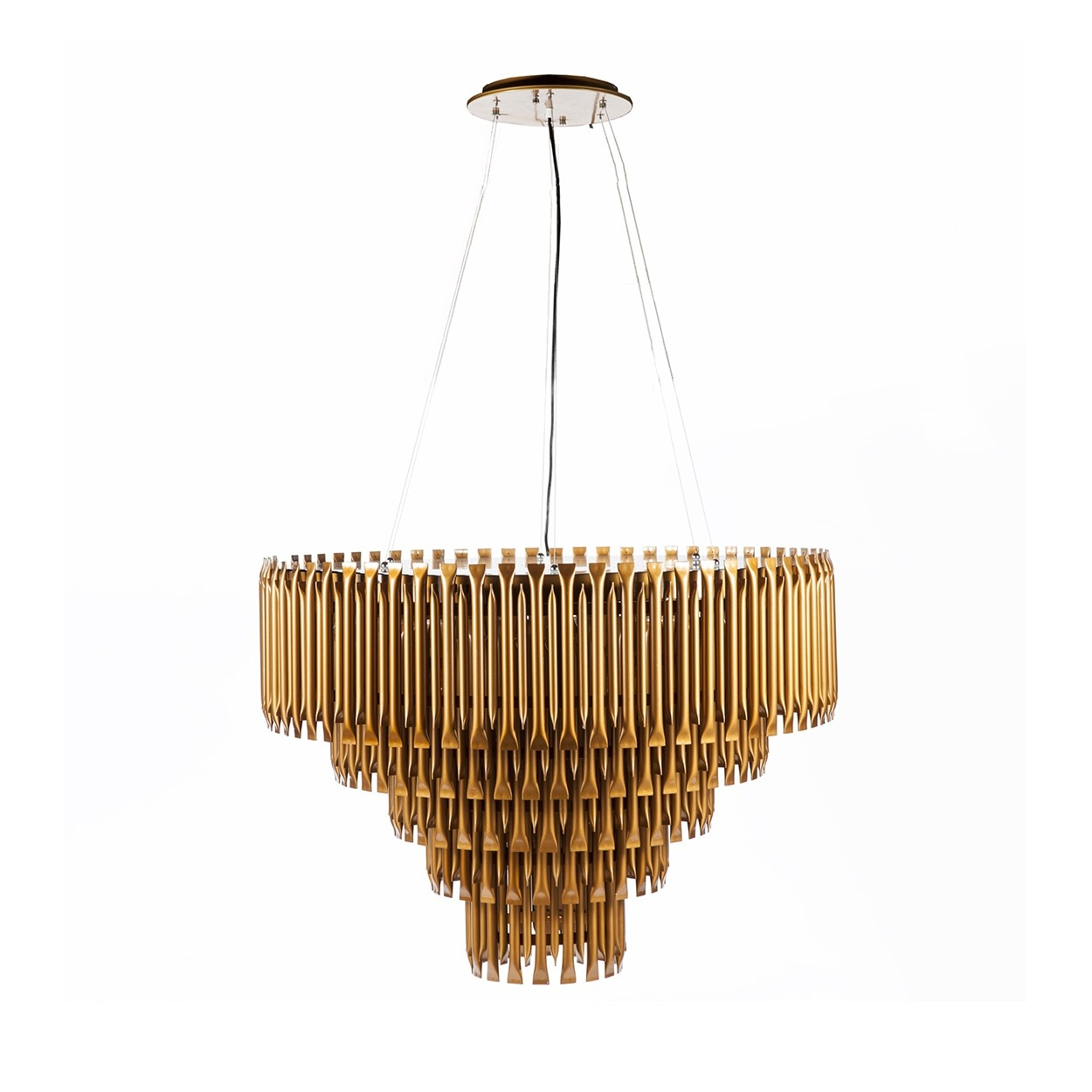 Mcgrath Mid Century Modern Led Chandelier Modernist Lighting Regarding Gold Modern Chandelier (#7 of 12)