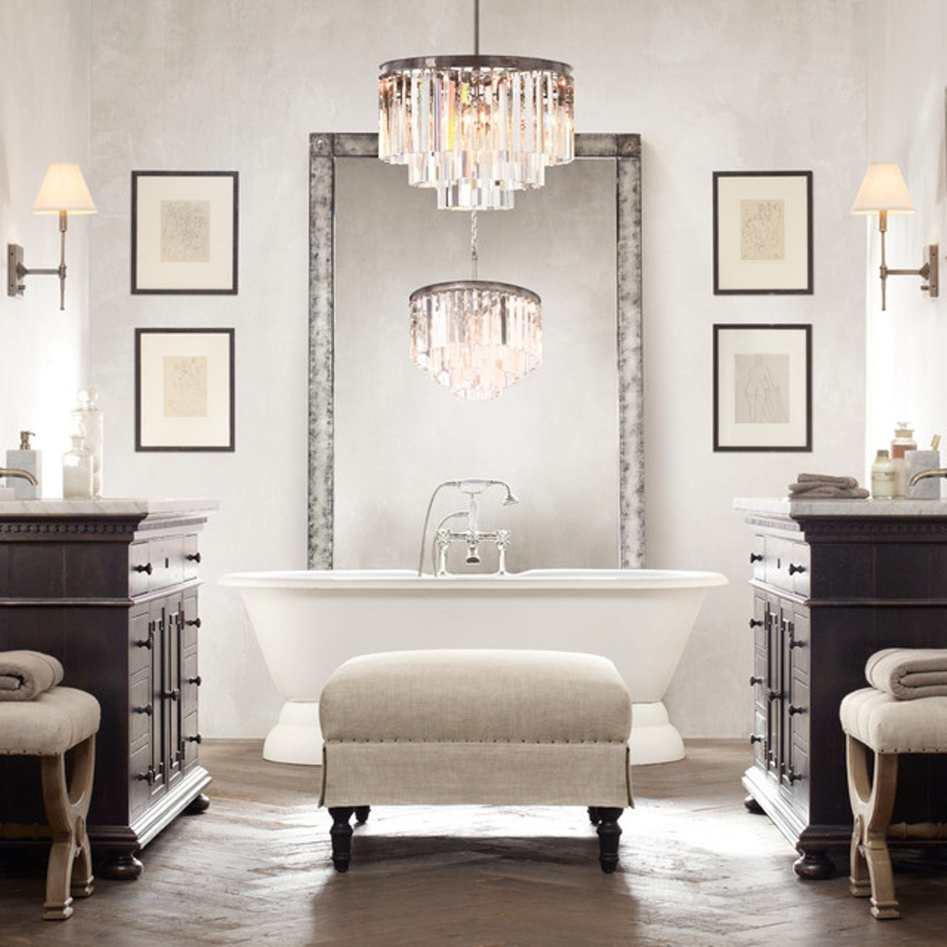 Popular Photo of Modern Bathroom Chandeliers