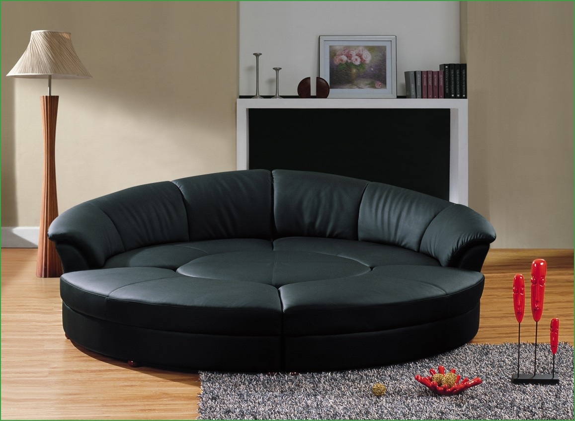 Modern Black Leather Sectional Contemporary Black Leather Within Contemporary Black Leather Sectional Sofa Left Side Chaise (#12 of 12)