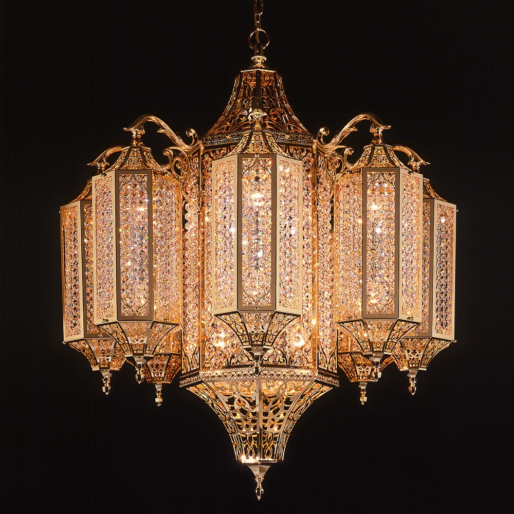 Modern Egyptian Crystal Chandelier With Cleaning Crystal Buy Throughout Egyptian Crystal Chandelier (#10 of 12)