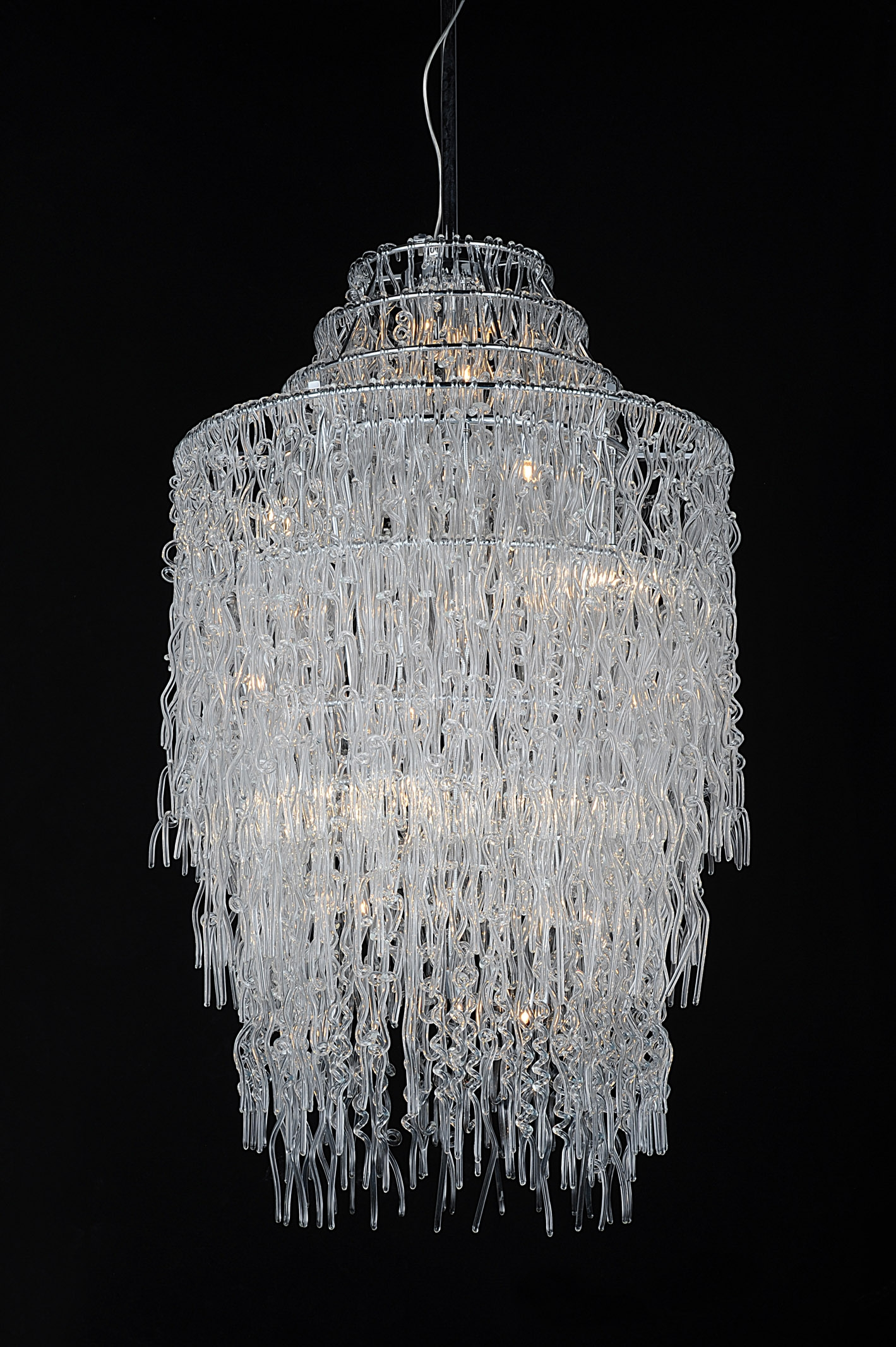Modern Glass Chandelier Lighting For Glass Chandelier (#5 of 12)