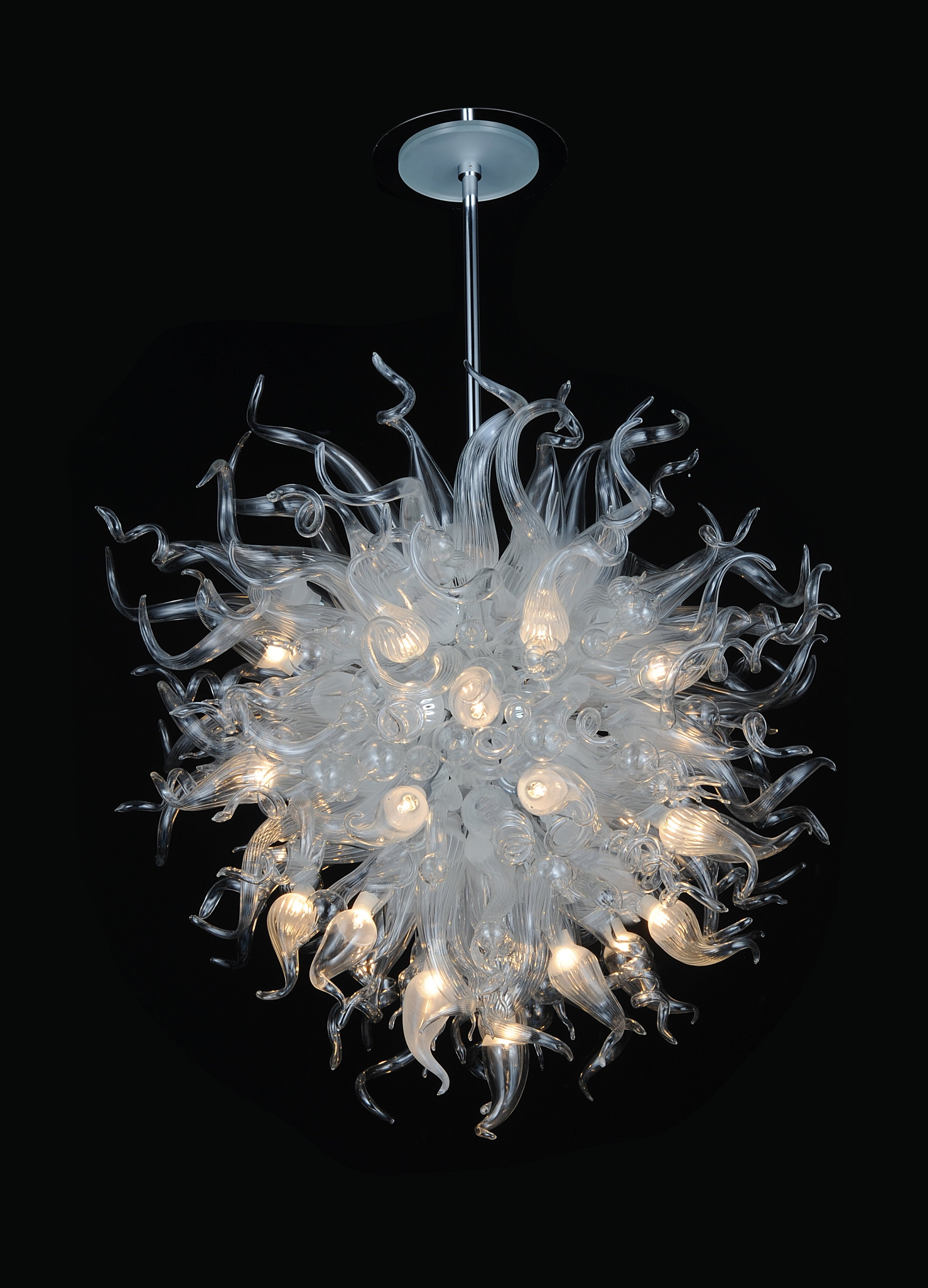 Modern Glass Chandelier Lighting Throughout Italian Chandeliers Contemporary (#9 of 12)