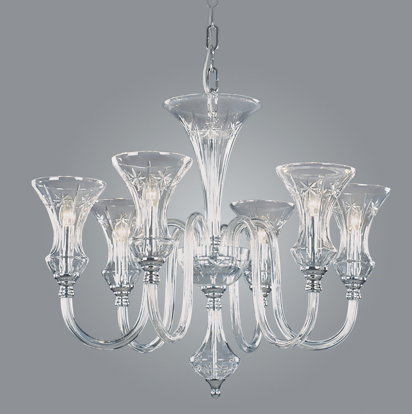 Modern Glass Chandeliers In Small Glass Chandeliers (#8 of 12)