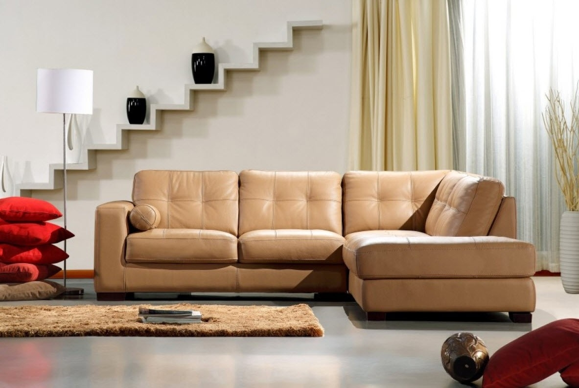Modern Home And Office Furniture Store Divani Casa 306ang Camel Throughout Camel Sectional Sofa (#10 of 12)