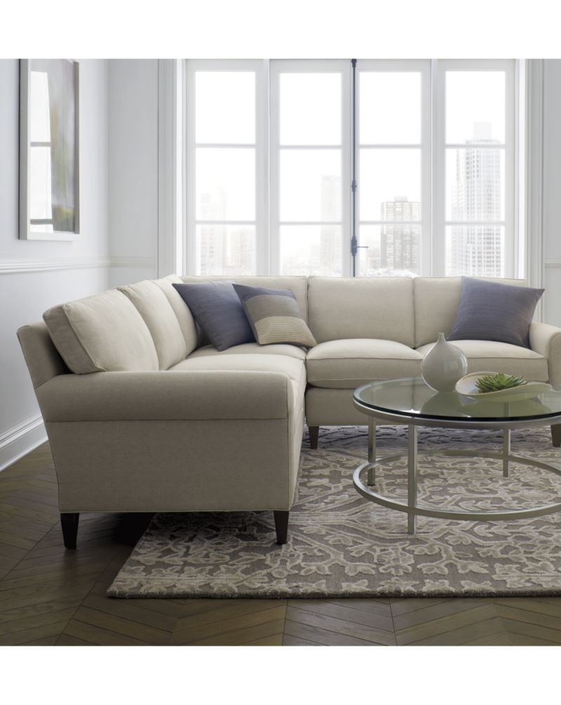 Inspiration About Montclair 2 Piece Sectional Sofa Crate And Barrel  Sectional Pertaining To Crate And Barrel