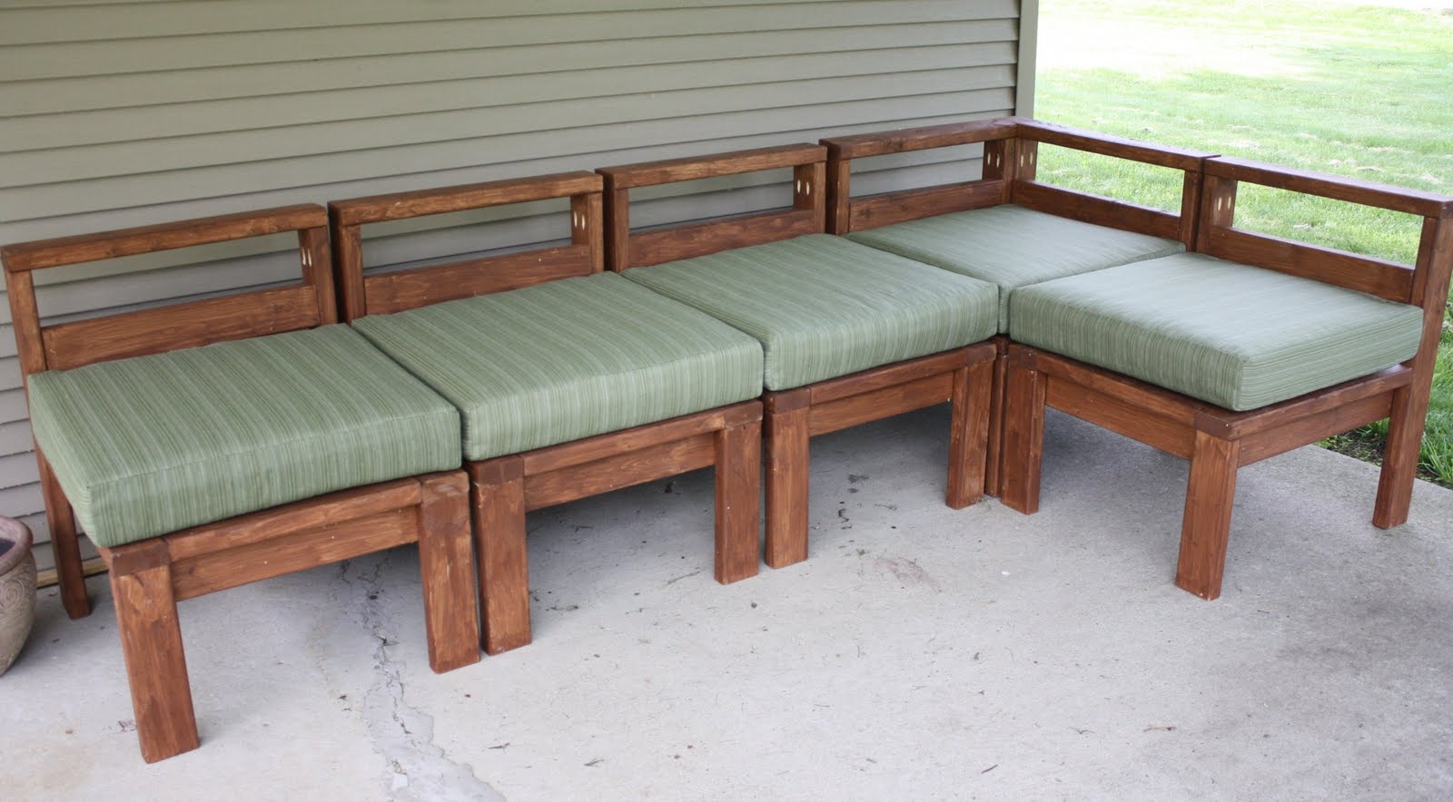 More Like Home 2×4 Outdoor Sectional Regarding Diy Sectional Sofa (#11 of 12)