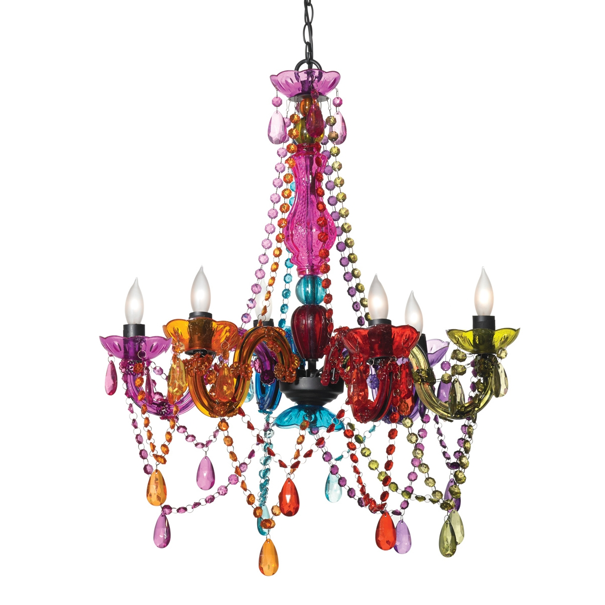 Popular Photo of Coloured Chandeliers