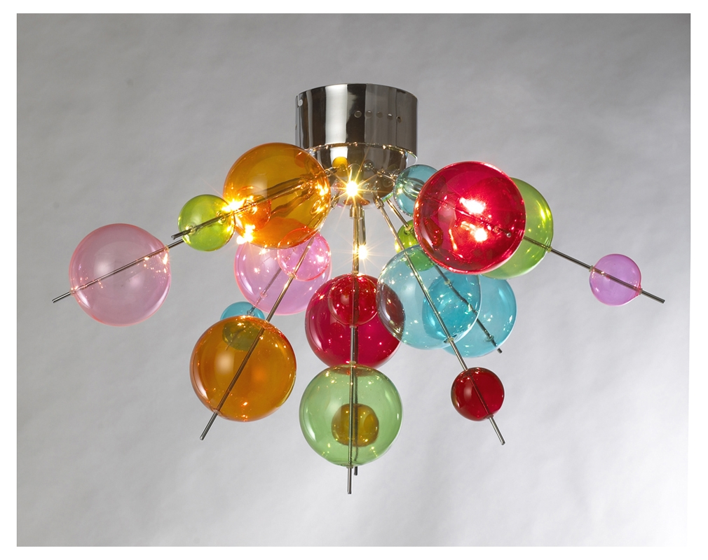 Multicoloured Ball Chandelier Light The Way Pinterest In Coloured Glass Chandelier (#6 of 12)