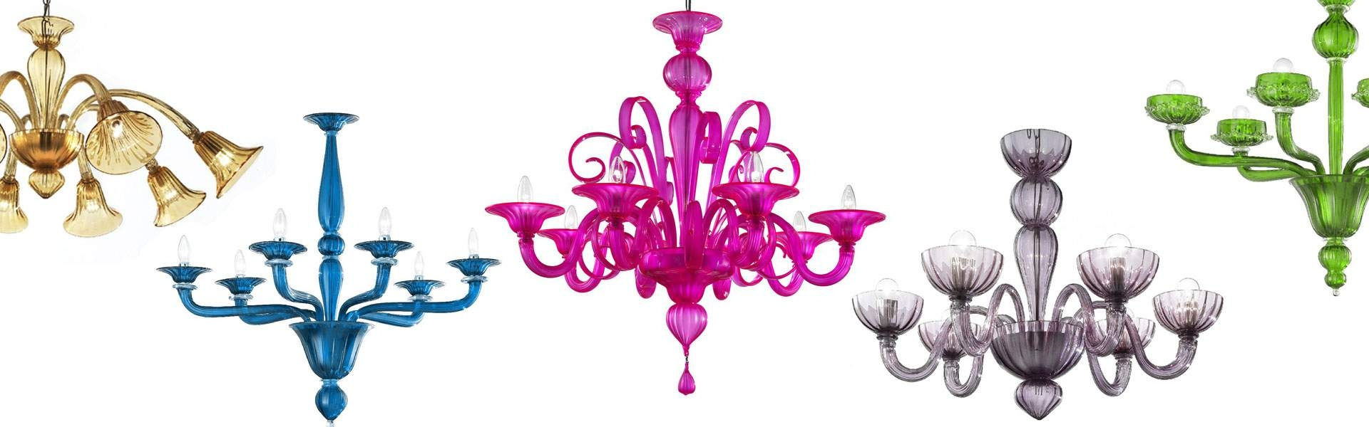 Murano Chandeliers Murano Glass Chandeliers For Sale From Italy With Regard To Coloured Glass Chandelier (#7 of 12)