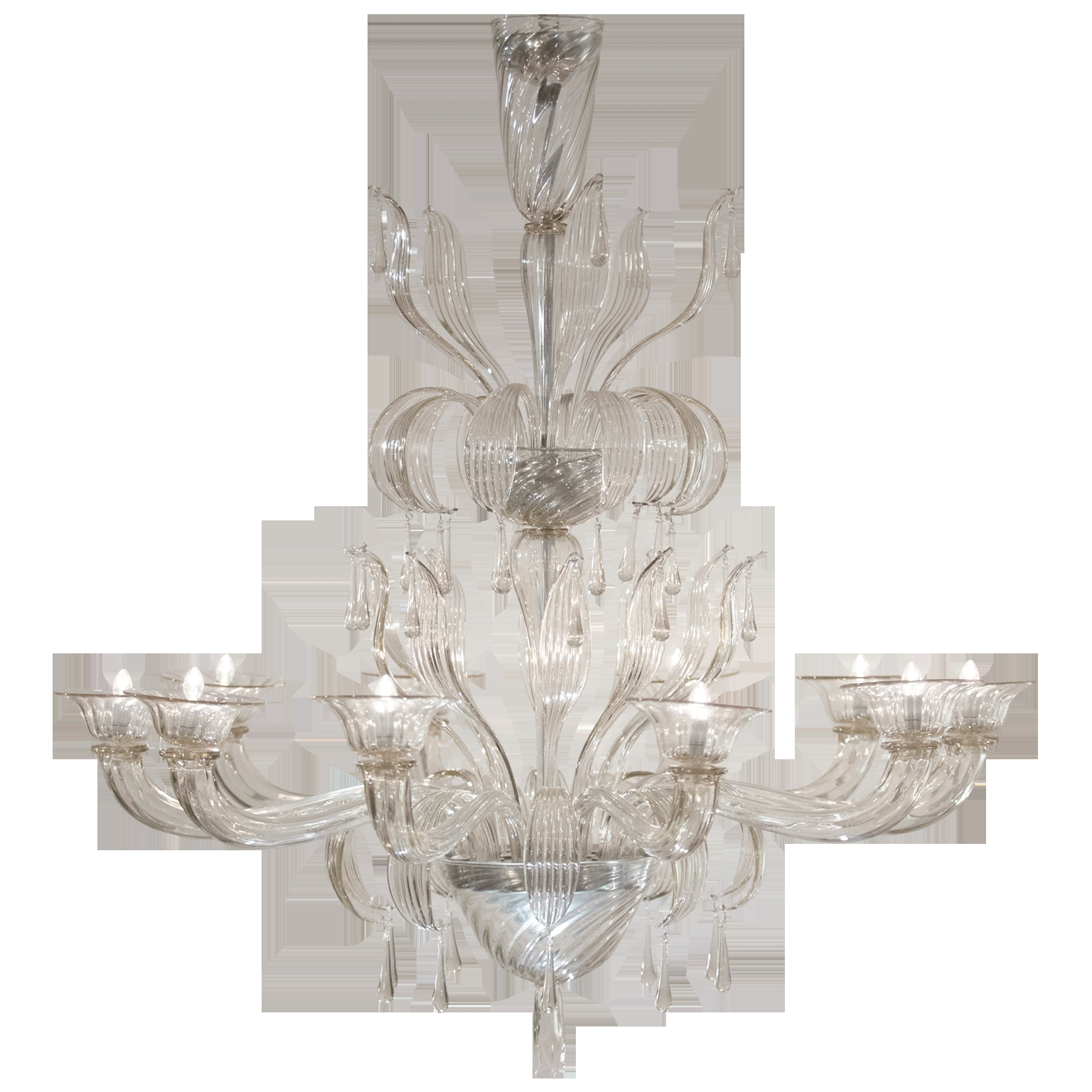 Murano Glass Chandelier Salviati Jean Marc Fray Intended For Glass Chandelier (#10 of 12)