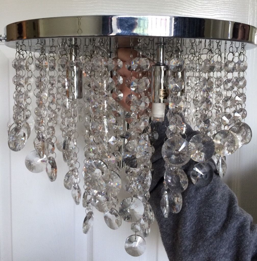 New Bhs Iris Crystal Mirror Chandelier In Fulwood Lancashire Pertaining To Mirror Chandelier (View 10 of 12)