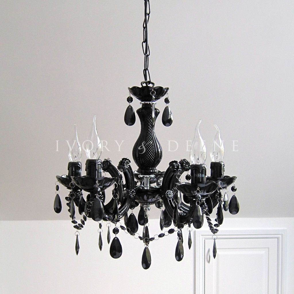 Nice Black Chandelier Modern Modern Crystal Chandeliers Home Decor For Black Glass Chandeliers (#9 of 12)