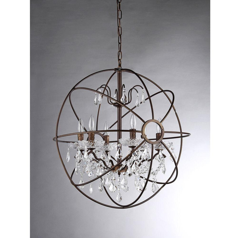 No Additional Accessories Cage Chandeliers Hanging Lights With Caged Chandelier (#11 of 12)