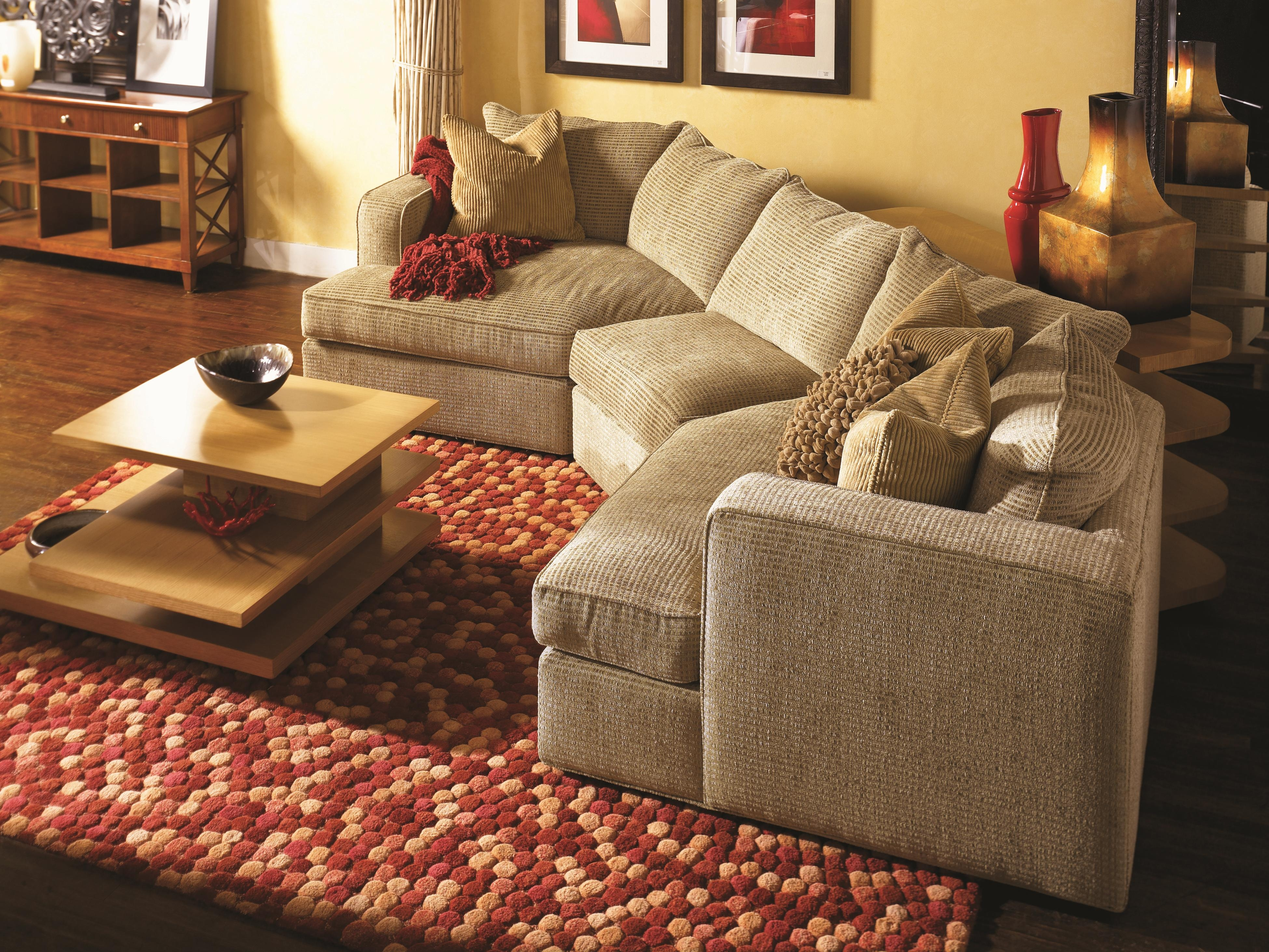 Norwalk Milford Sectional Sofa With Track Arms Loose Back Throughout Angled Chaise Sofa (#9 of 12)