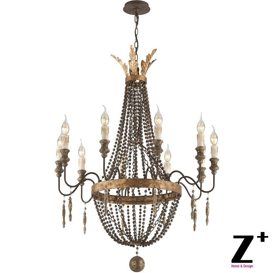 Online Get Cheap Wooden Chandelier Beads Aliexpress Alibaba Within French Wooden Chandelier (#10 of 12)