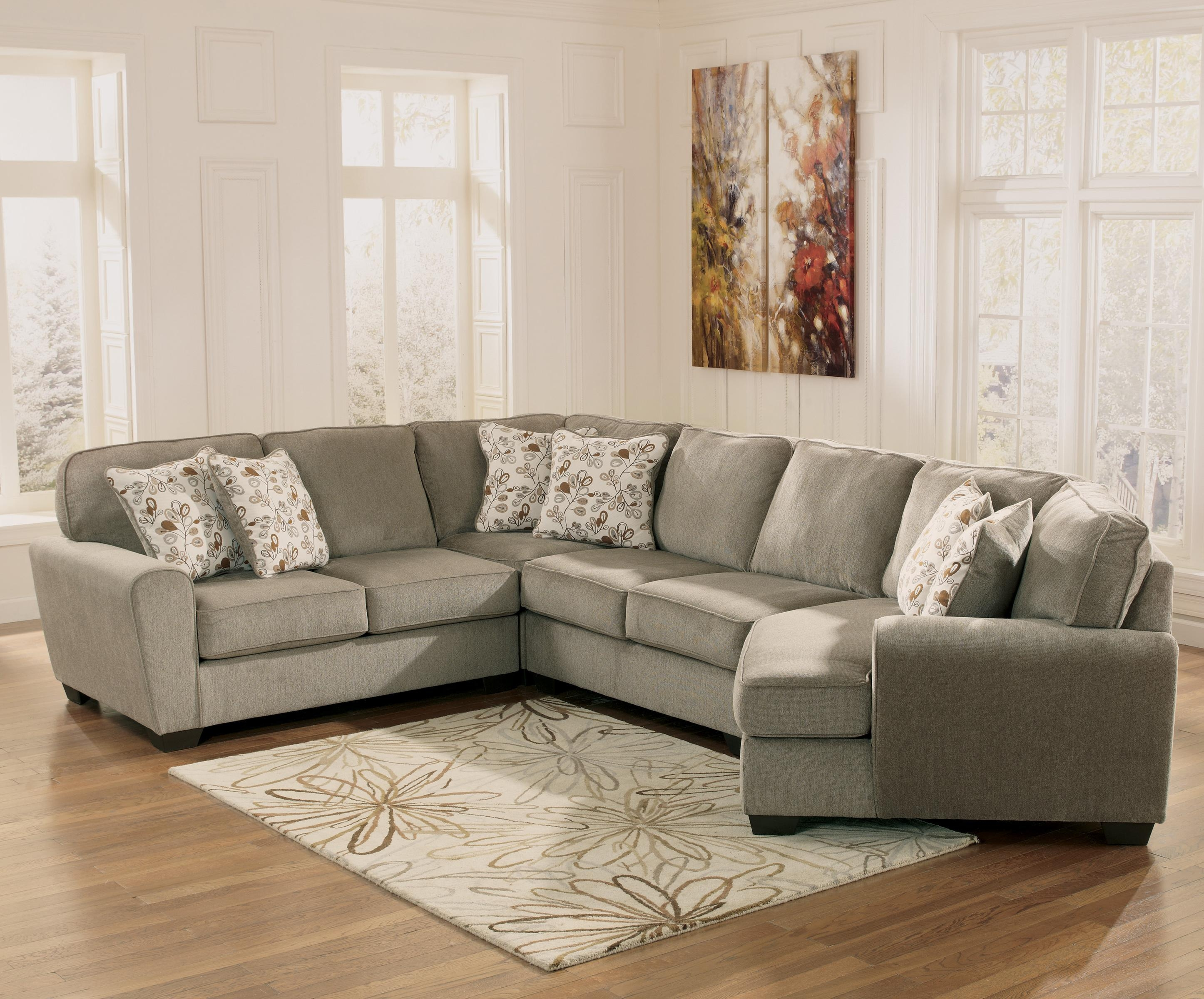 Patina 4 Piece Small Sectional With Right Cuddler Rotmans Sofa With Regard To Cuddler Sectional Sofa (#10 of 12)