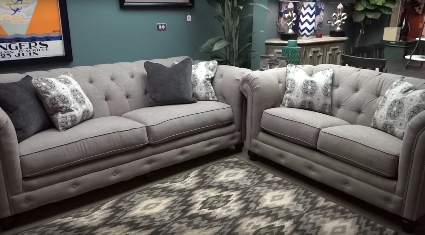 Popular Photo of Ashley Furniture Gray Sofa