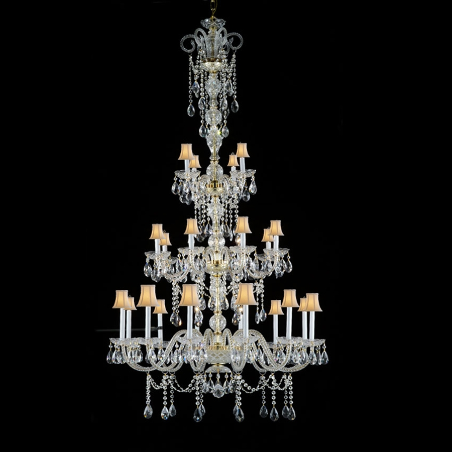 Popular Huge Crystal Chandeliers Buy Cheap Huge Crystal With Regard To Huge Crystal Chandeliers (#11 of 12)