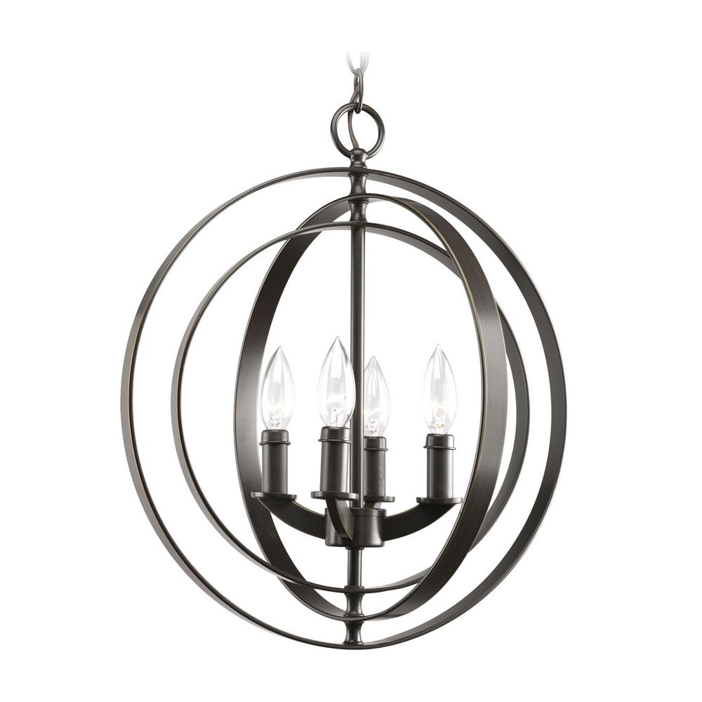 Progress Orb Chandelier In Antique Bronze Finish P3827 20 Intended For Orb Chandelier (#12 of 12)