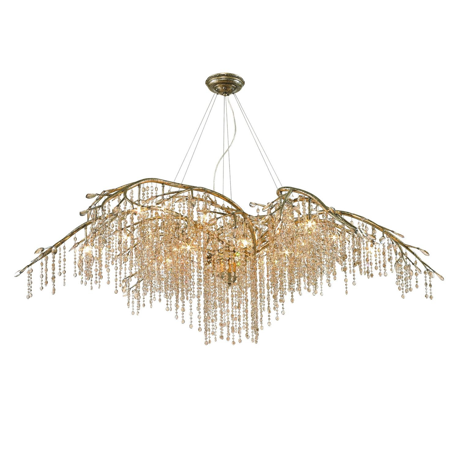 Qz990 Golden Lighting Autumn Twilight Goldsilver Clear Crystal Pertaining To Crystal Branch Chandelier (#11 of 12)