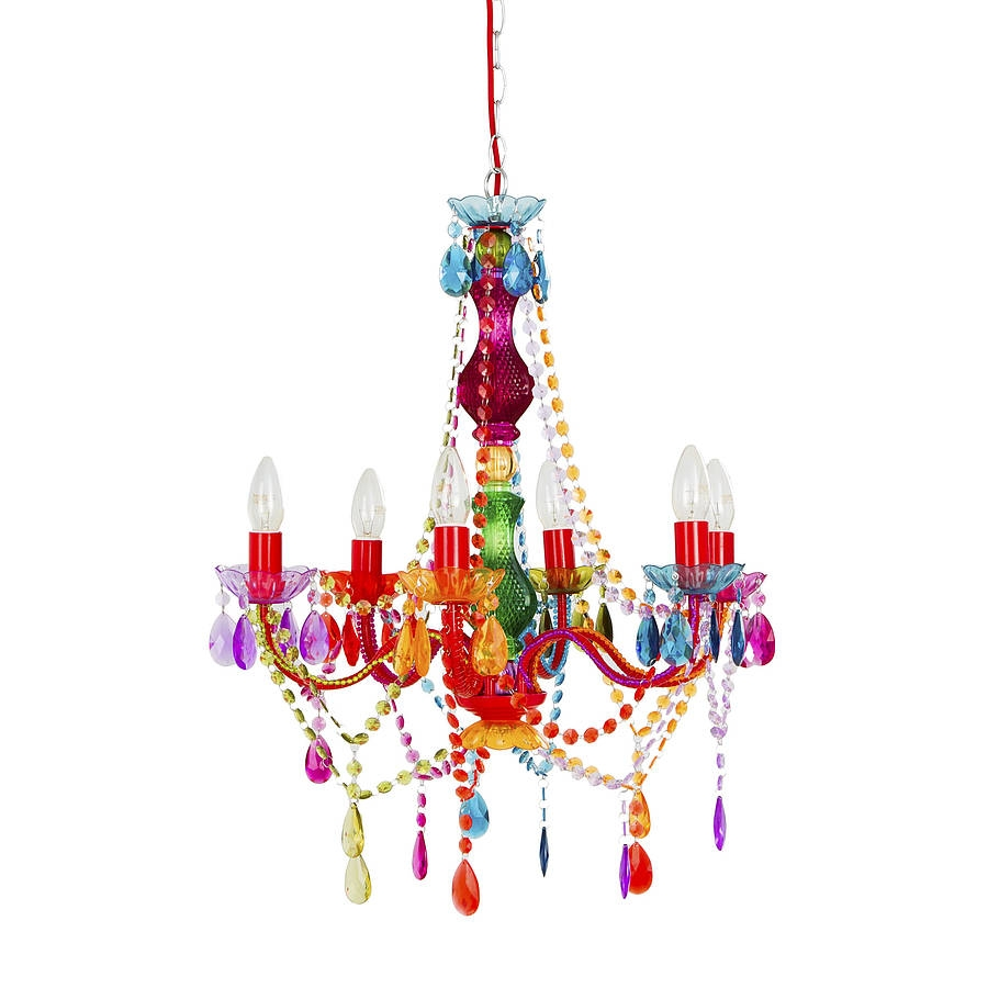 Rainbow Chandelier House Stuff Pinterest Chandeliers And House In Colourful Chandeliers (#11 of 12)