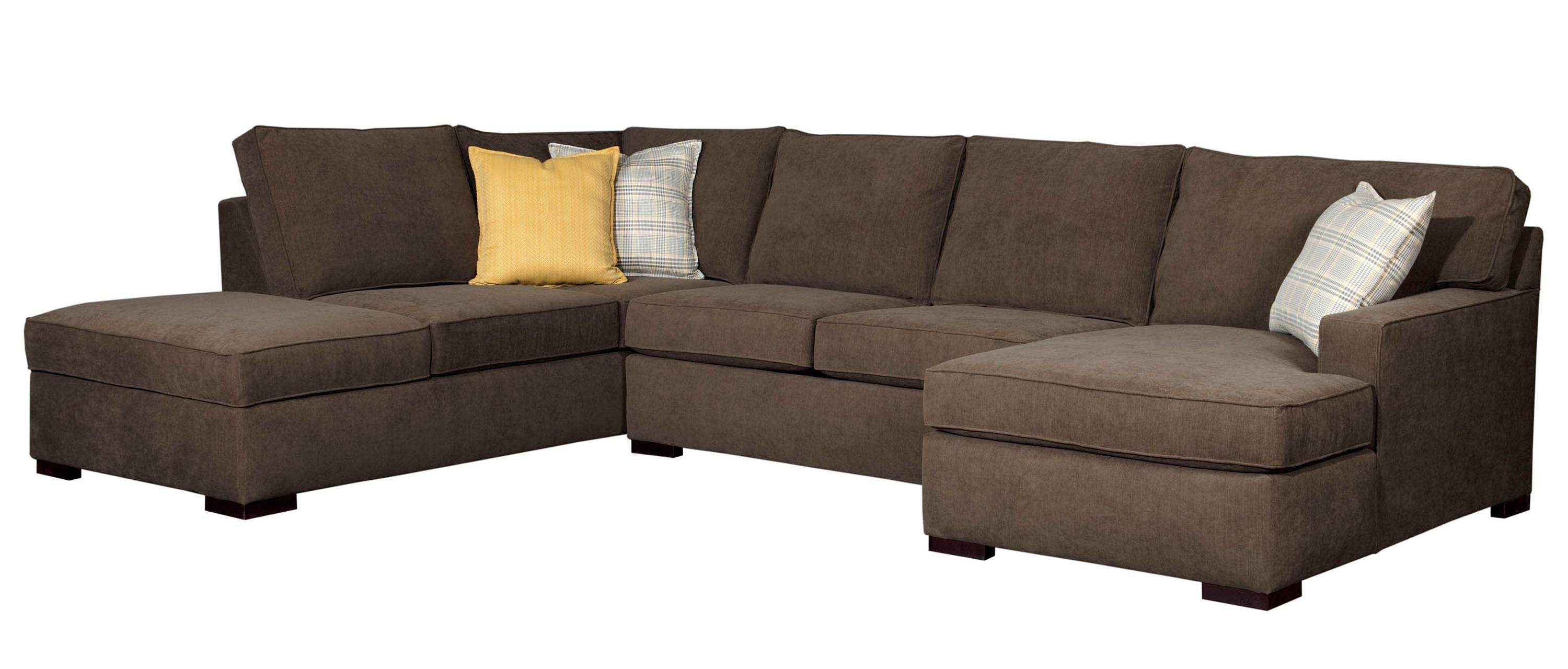 Raphael Contemporary Sectional Sofa With Raf Corner Storage Chaise Intended For Broyhill Sectional Sofas (#10 of 12)