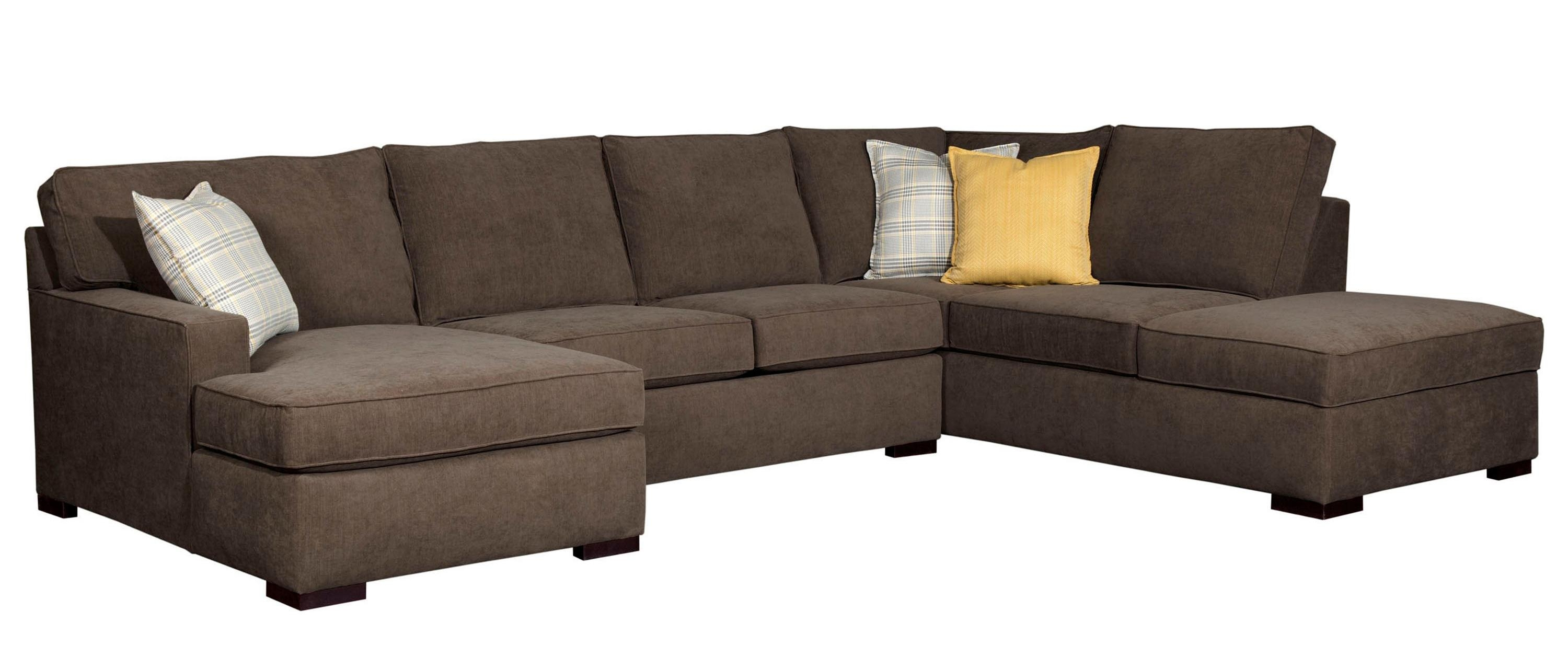 Raphael Three Piece Sectional Sofa Broyhill Furniture Home With Regard To Broyhill Sectional Sofas (#11 of 12)