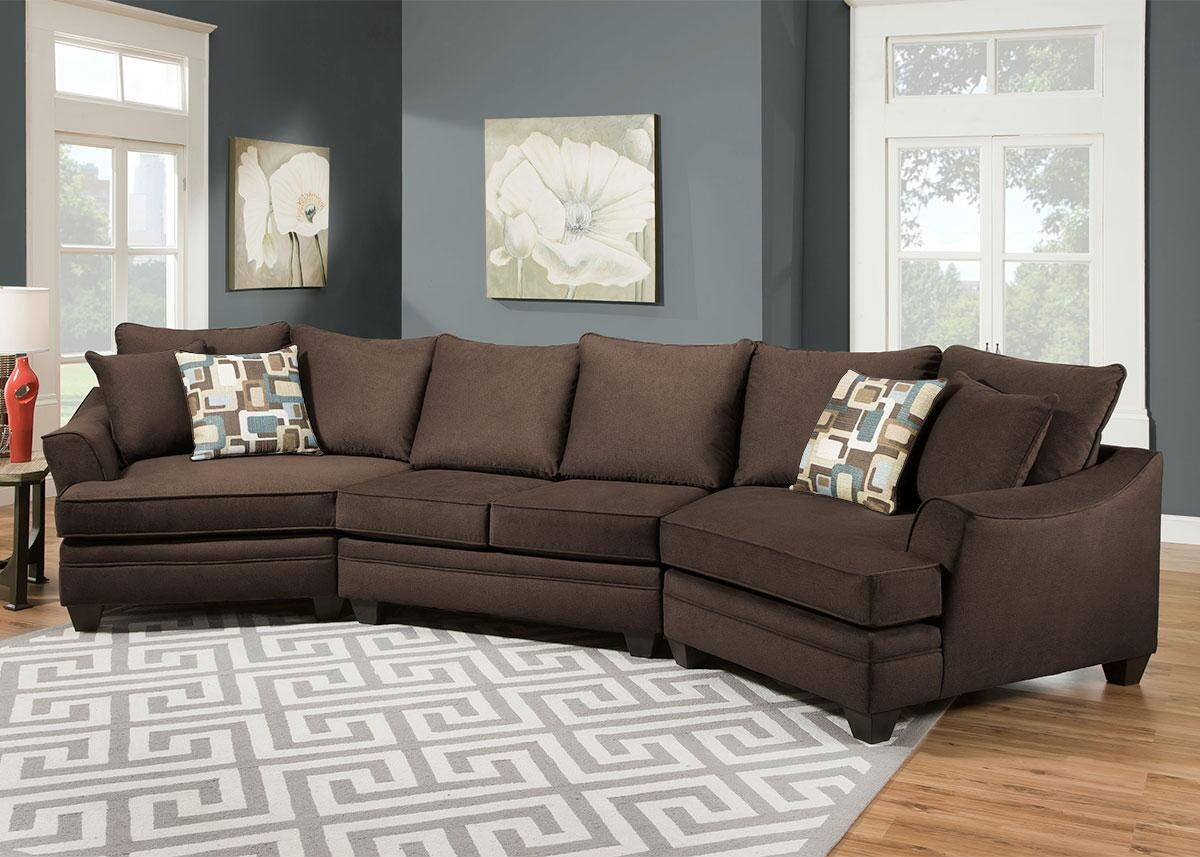 Remarkable Sectional Sofa With Cuddler Chaise 72 For Your Chenille For Chenille Sectional Sofas (#12 of 12)