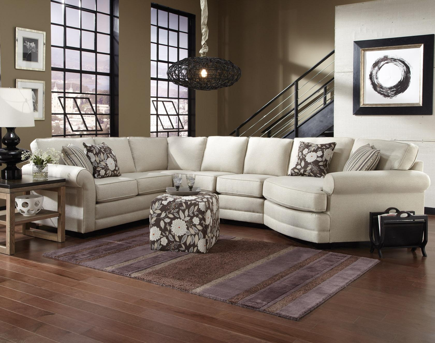 Rowe My Style I Ii Transitional Sectional Sofa With Turned Legs Within 7 Seat Sectional Sofa (#12 of 12)