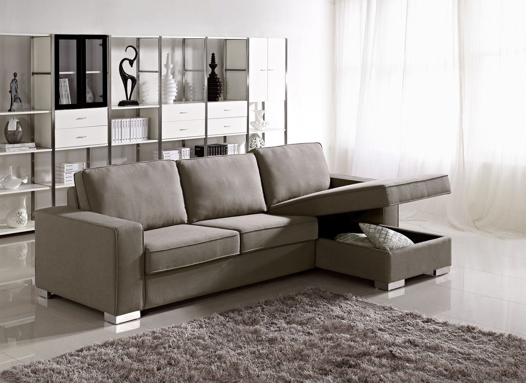 Sectional Sofas For Small Spaces Big Lots Surripui Inside Apartment Sectional Sofa With Chaise (#10 of 12)
