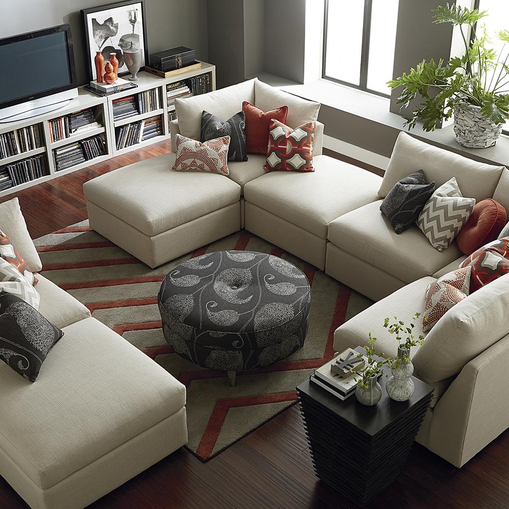 Sectional Sofas Living Room Furniture Bassett Furniture Intended For Bassett Sectional Sofa (#10 of 12)