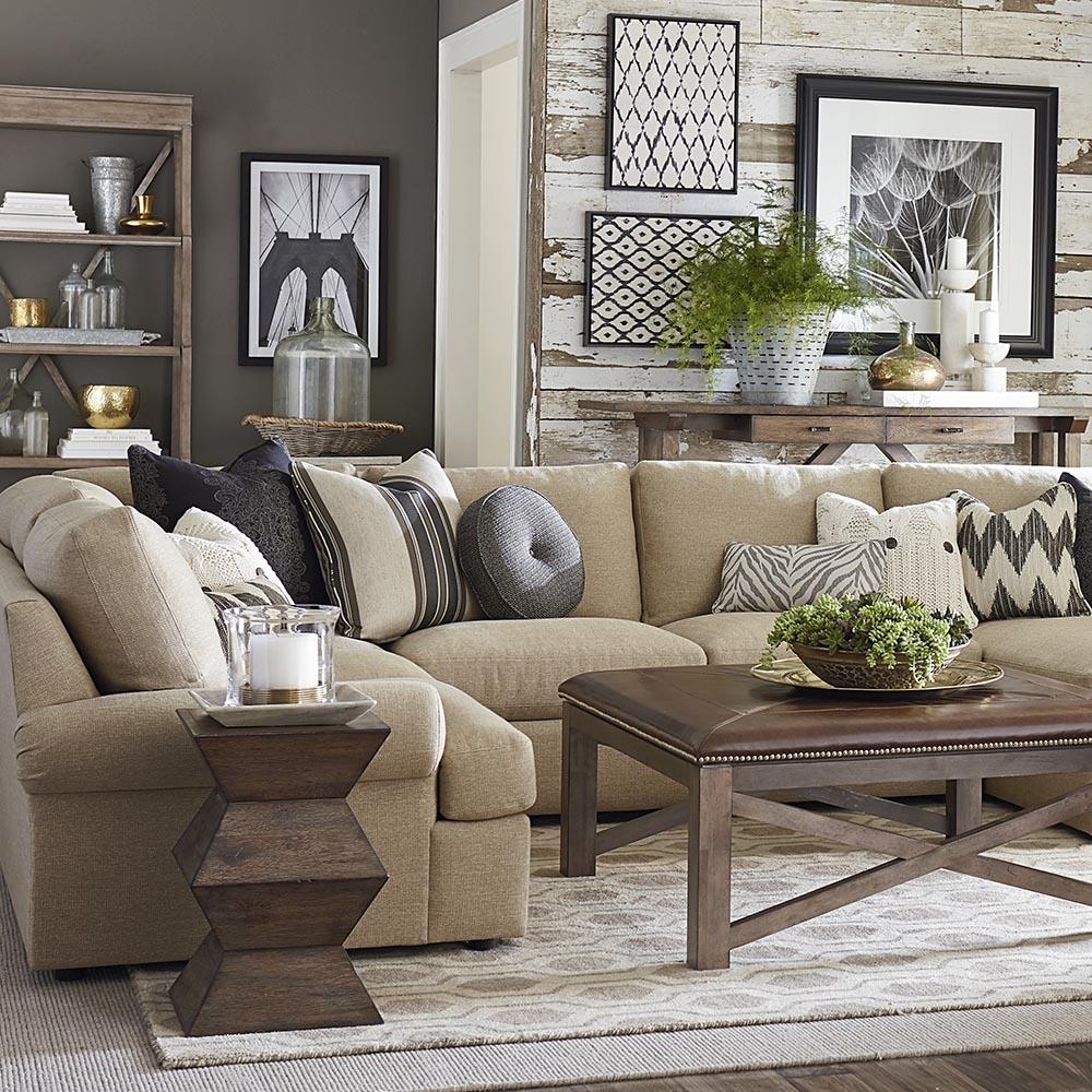 Sectional Sofas Living Room Furniture Bassett Furniture Within Bassett Sectional Sofa (#11 of 12)