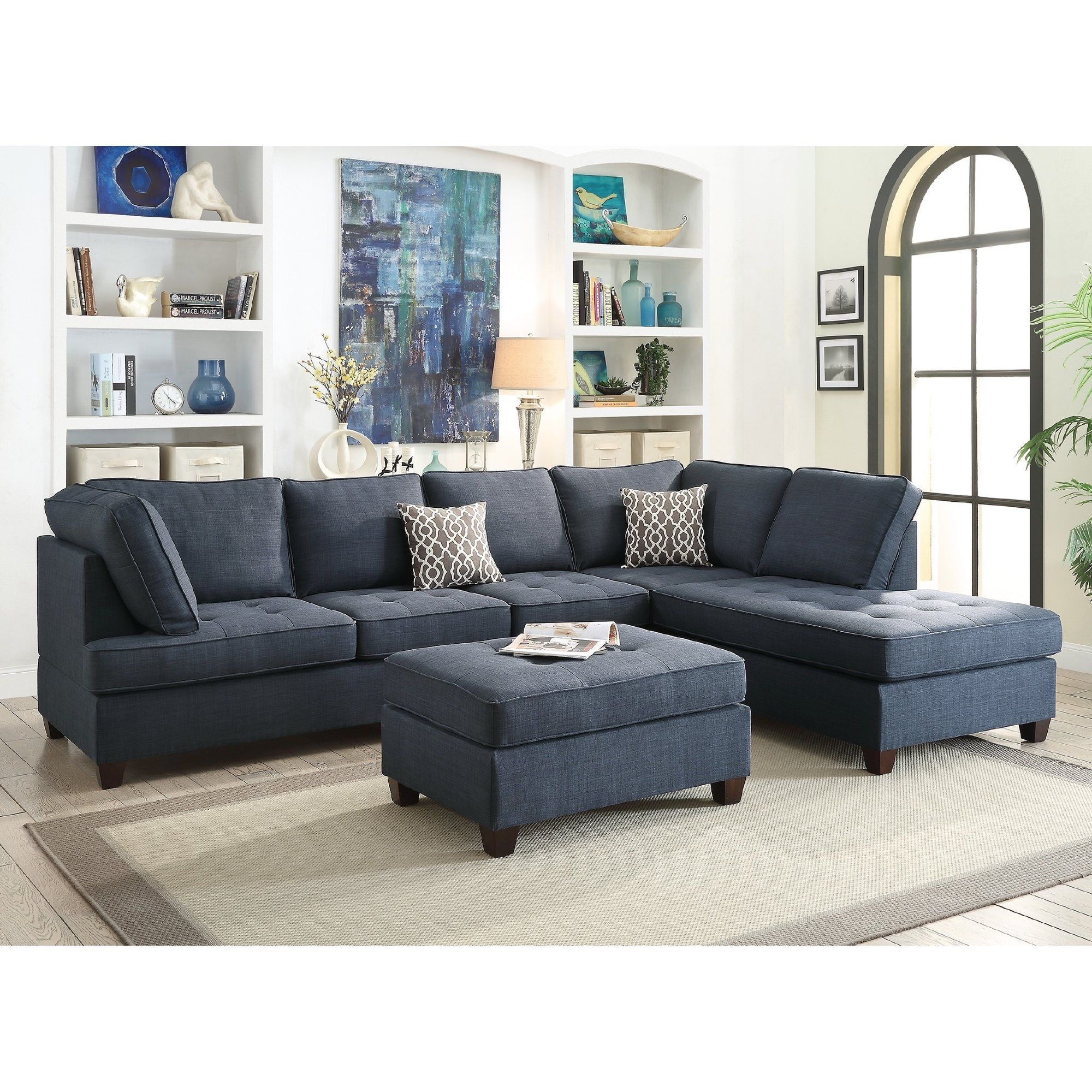 Sectional Sofas Youll Love Wayfair Intended For Curved Sectional Sofa With Recliner (#12 of 12)