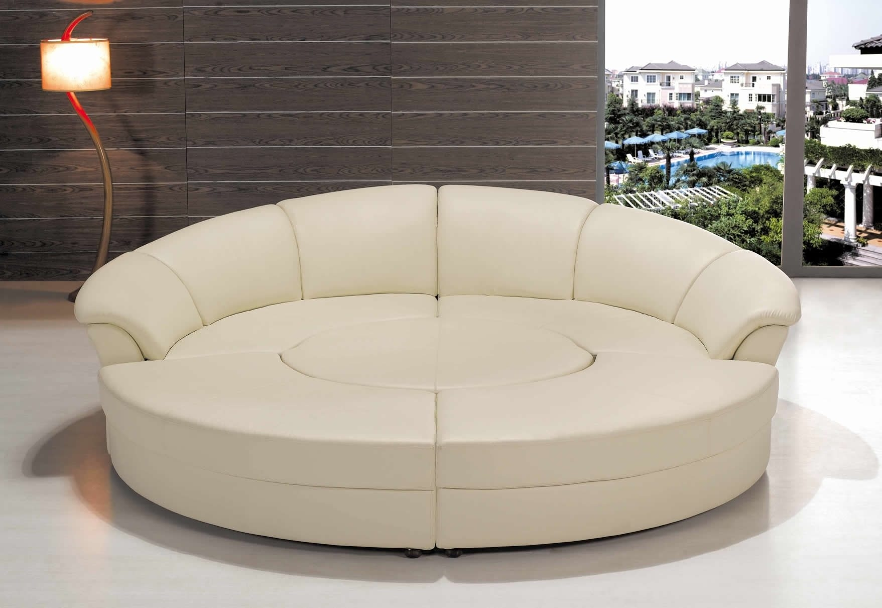 12 ideas of circular sectional sofa for Semi classic sofa