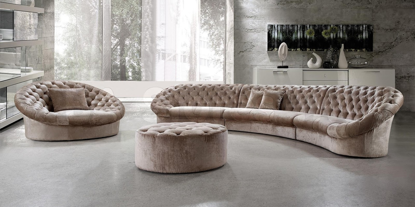 Semi Circular Sofas Sectionals Cleanupflorida Intended For Extra Wide Sectional Sofas (#11 of 12)