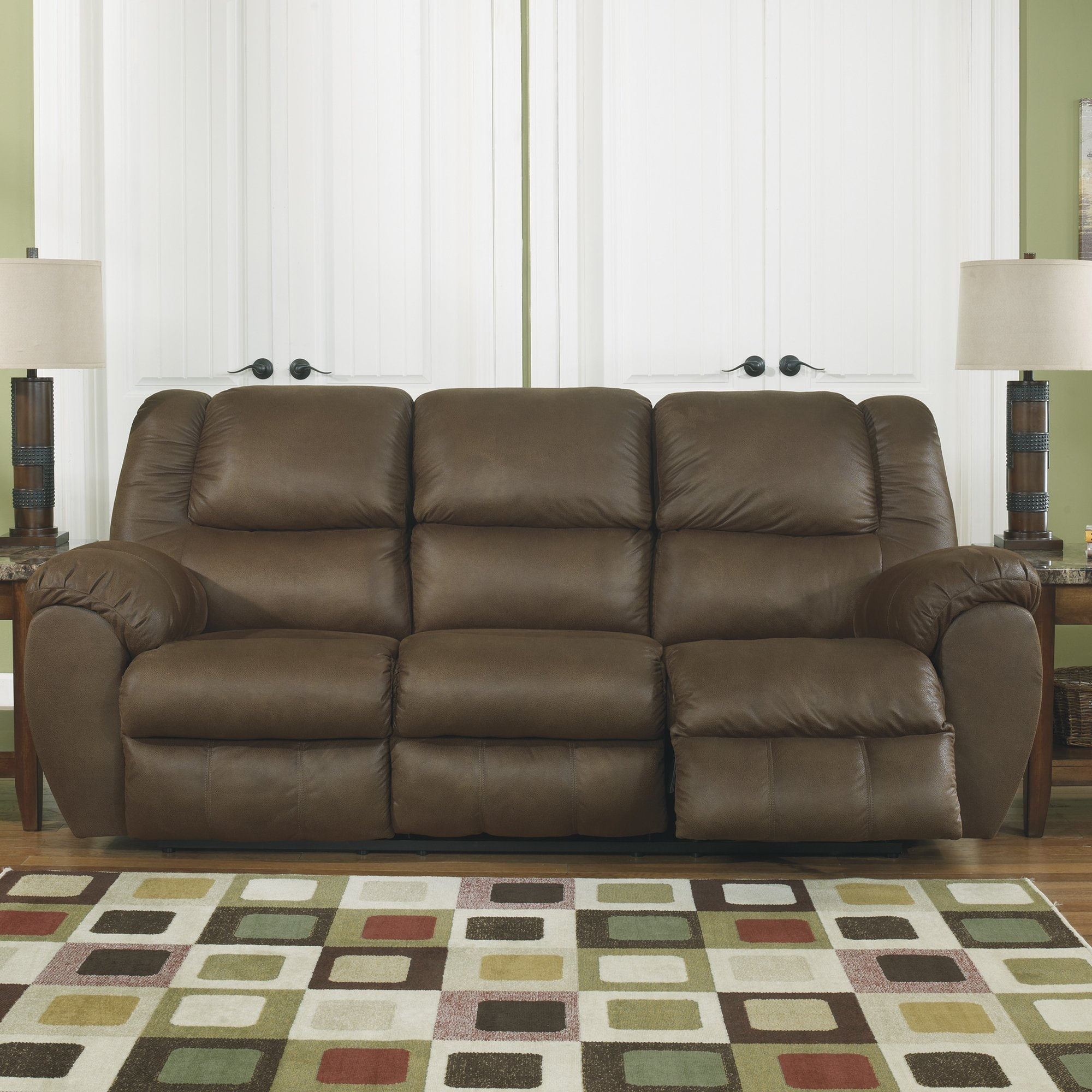 Signature Design Ashley Weatherly Reclining Sofa Reviews Throughout Ashley Tufted Sofa (#12 of 12)