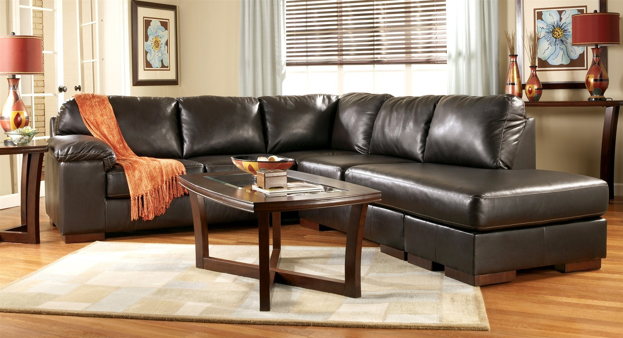 Simple 3 Piece Leather Sectional Sofa With Chaise 79 For Your Pertaining To European Style Sectional Sofas (#11 of 12)
