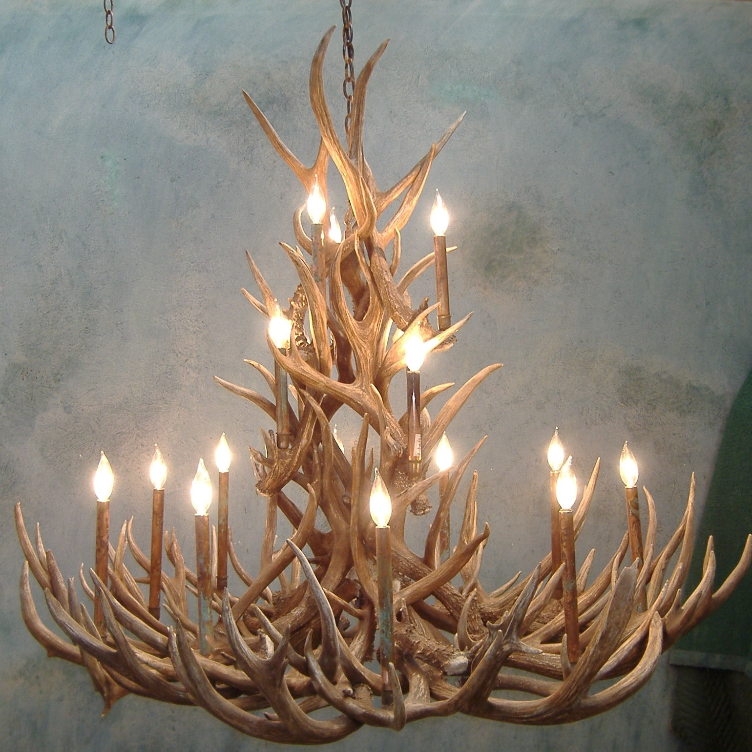 12 inspirations of stag horn chandelier small antler chandelier lightupmyparty with regard to stag horn chandelier 8 of 12 aloadofball Choice Image