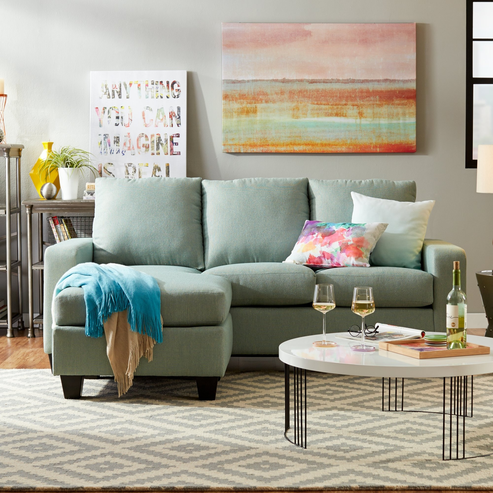 Small Sectional Sofas Youll Love Wayfair Pertaining To Small Sectional Sofa (#11 of 12)