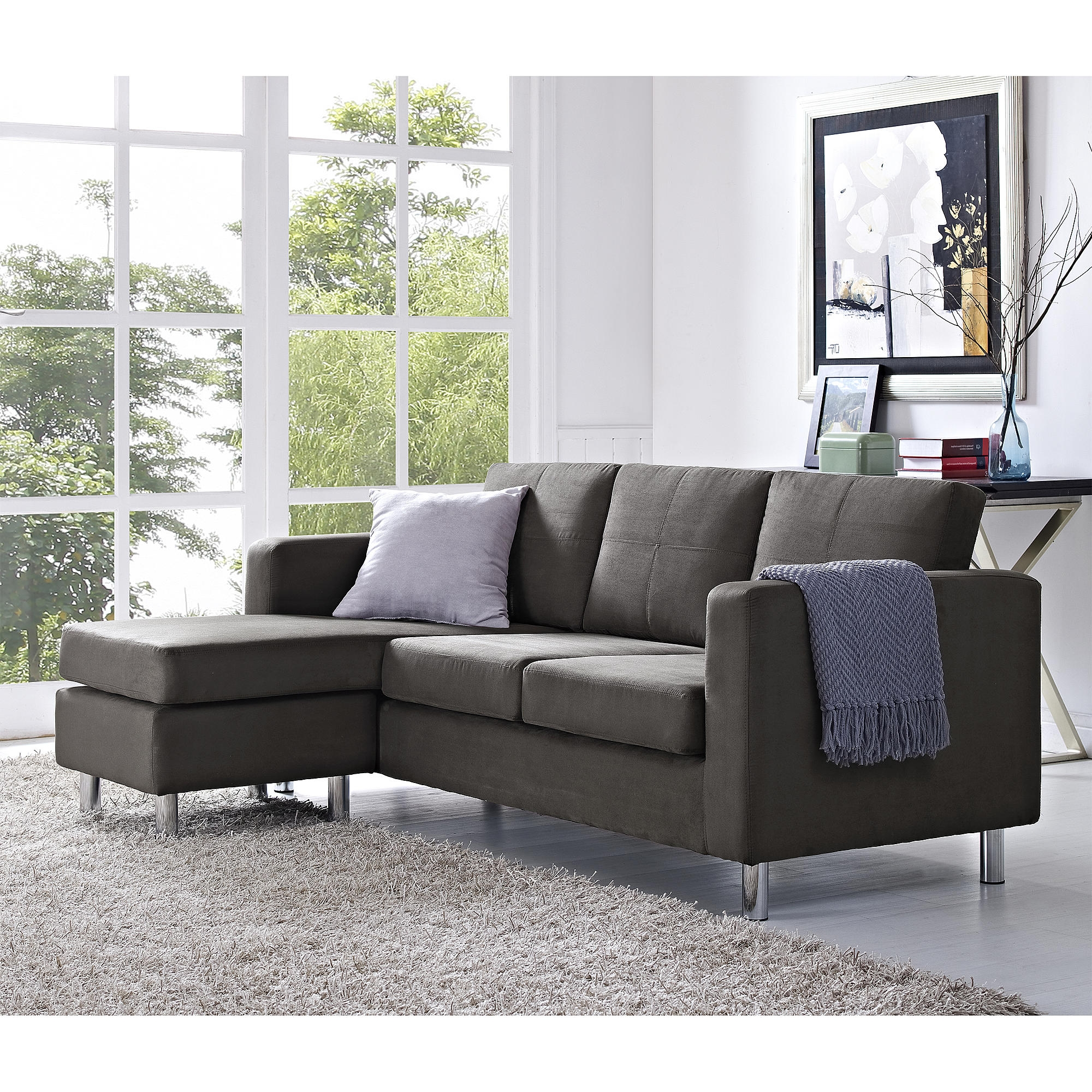 Small Spaces Configurable Sectional Sofa Dorel Home Furnishings With Durable Sectional Sofa (#10 of 12)