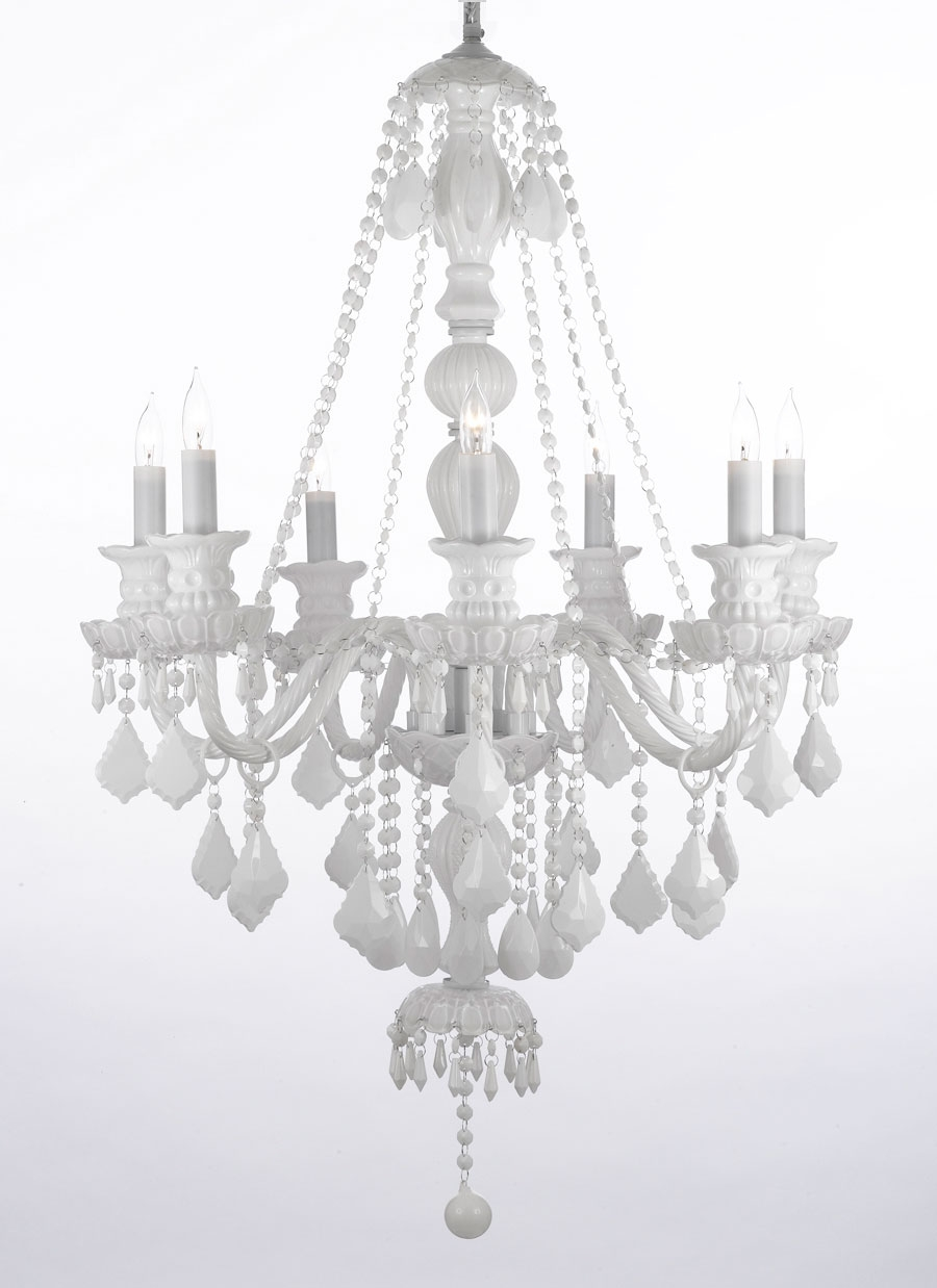 Small White Chandelier With White Chandeliers (#8 of 12)