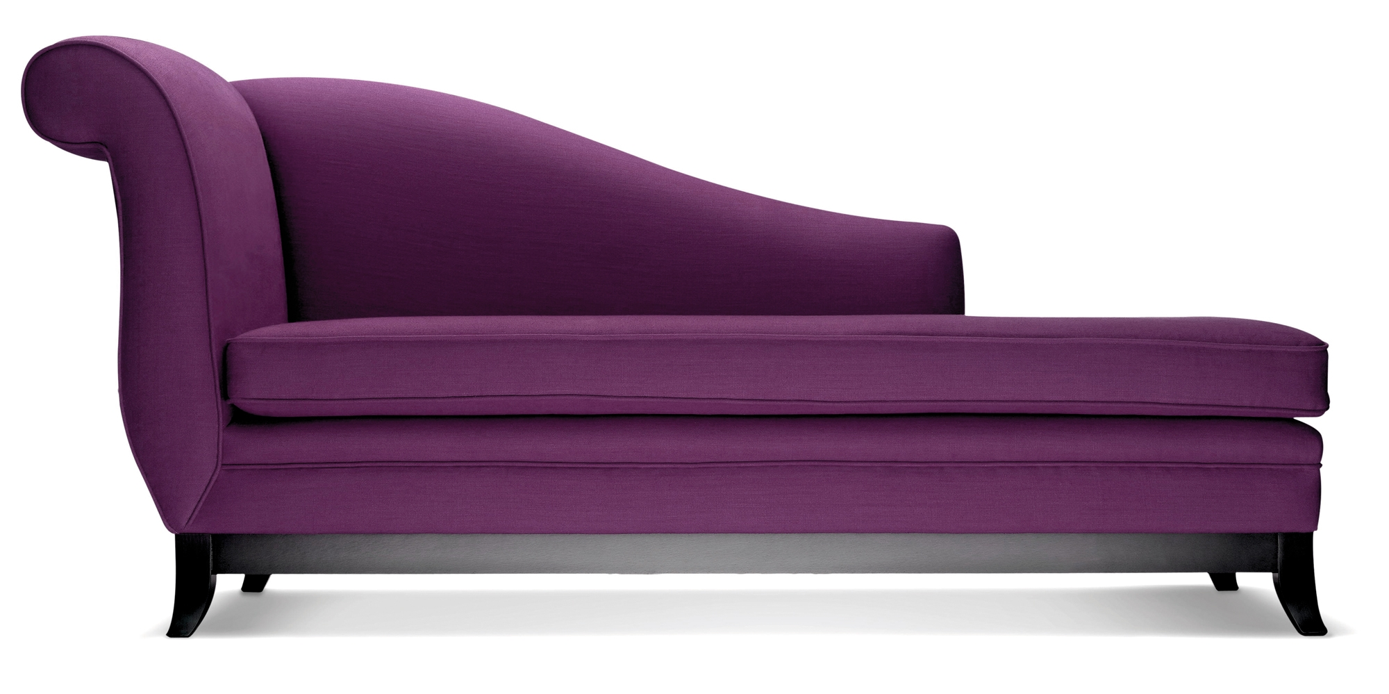 Sofa Beach Style Purple Velvet Tufted Hudson Home Decor Backless Pertaining To Backless Chaise Sofa (#12 of 12)
