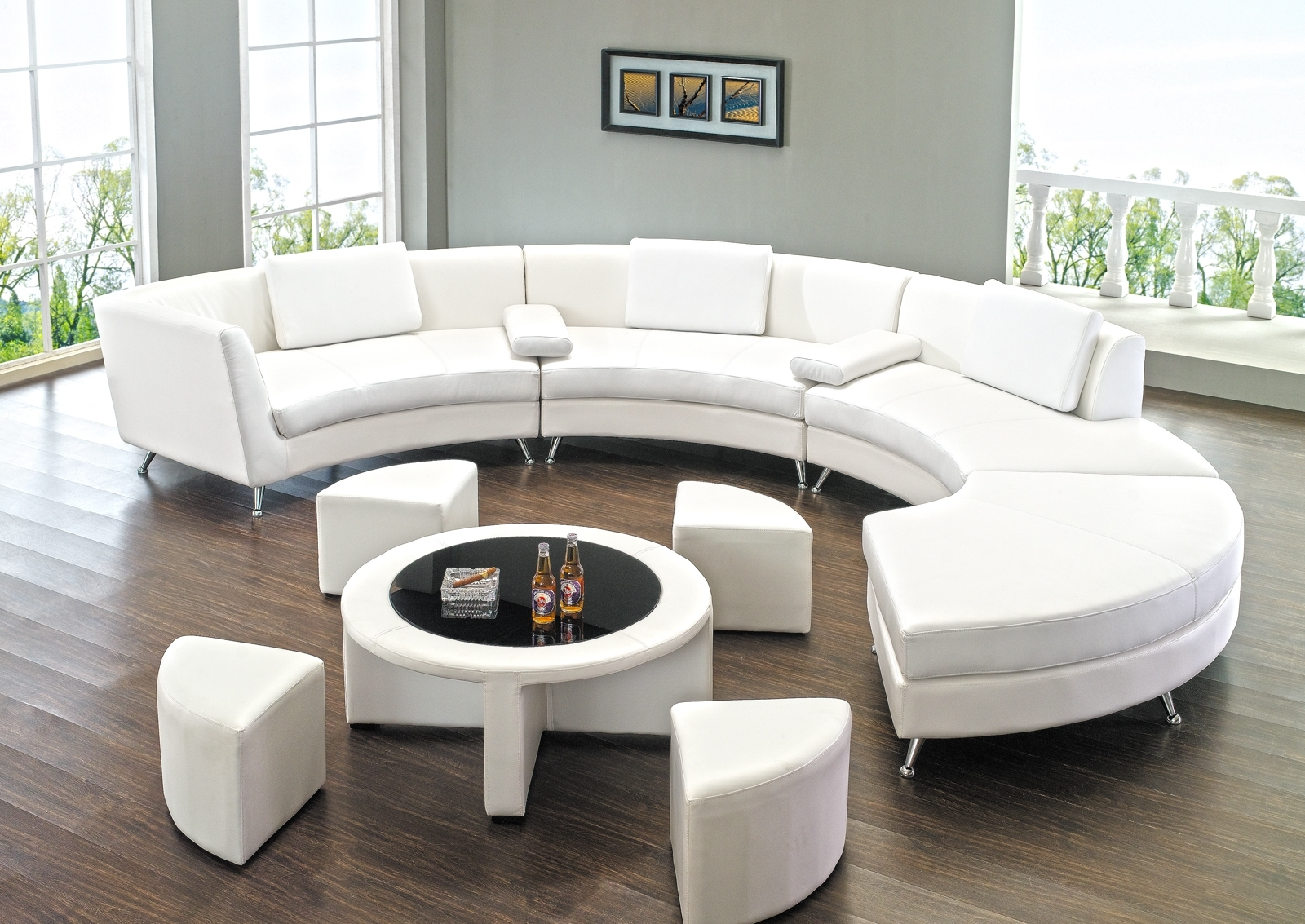 Sofas Center Rounded Sectional Sofa Curved Couch Circle Circular In Circular Sectional Sofa (#11 of 12)