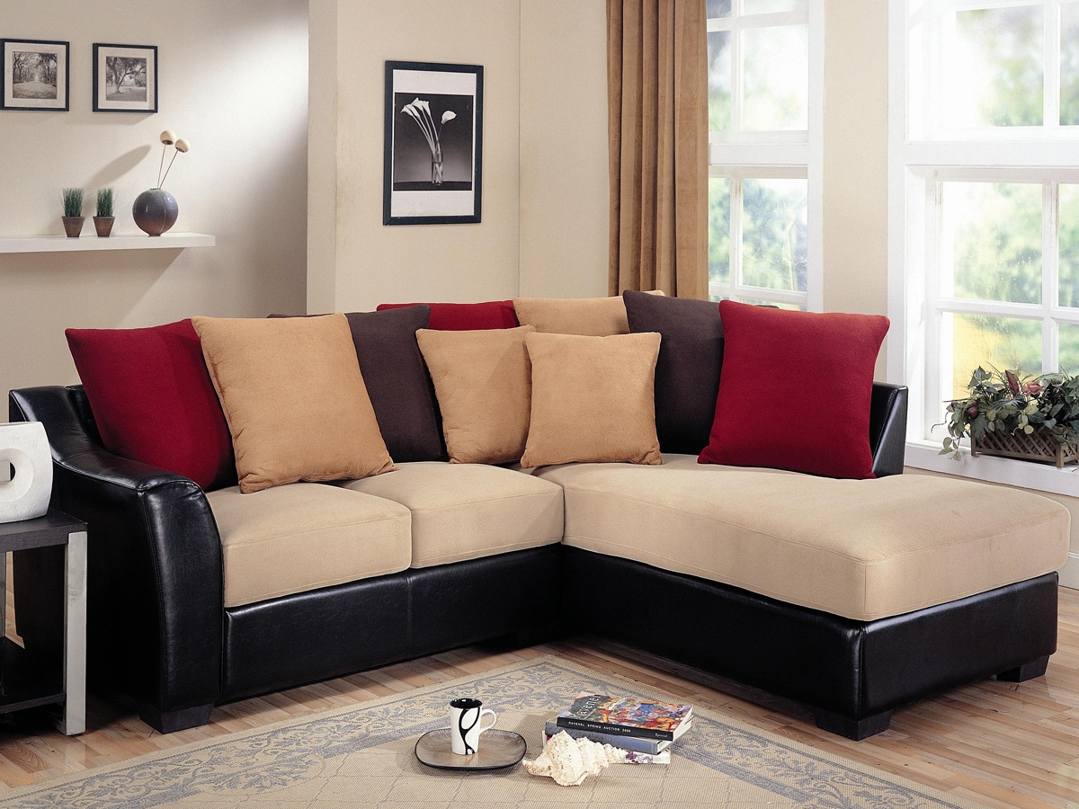 Sofas Luxury Your Living Room Sofas Design With Red Sectional With Regard To Black Sectional Sofa For Cheap (#12 of 12)