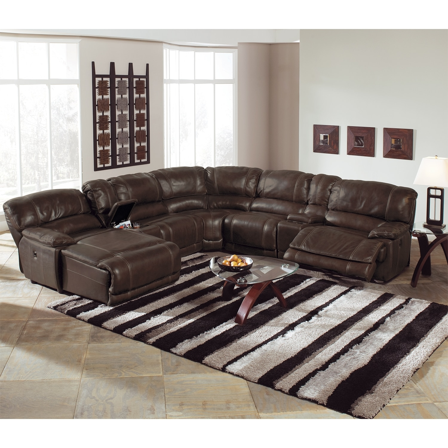 12 best collection of 6 piece leather sectional sofa. Black Bedroom Furniture Sets. Home Design Ideas