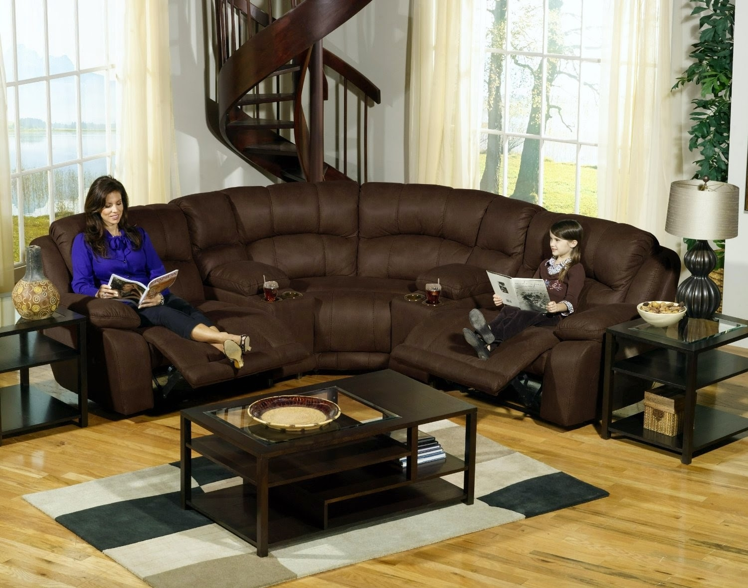 Stunning Leather Sectional Sofa With Power Recliner 17 On Berkline Pertaining To Berkline Sectional Sofa (#12 of 12)