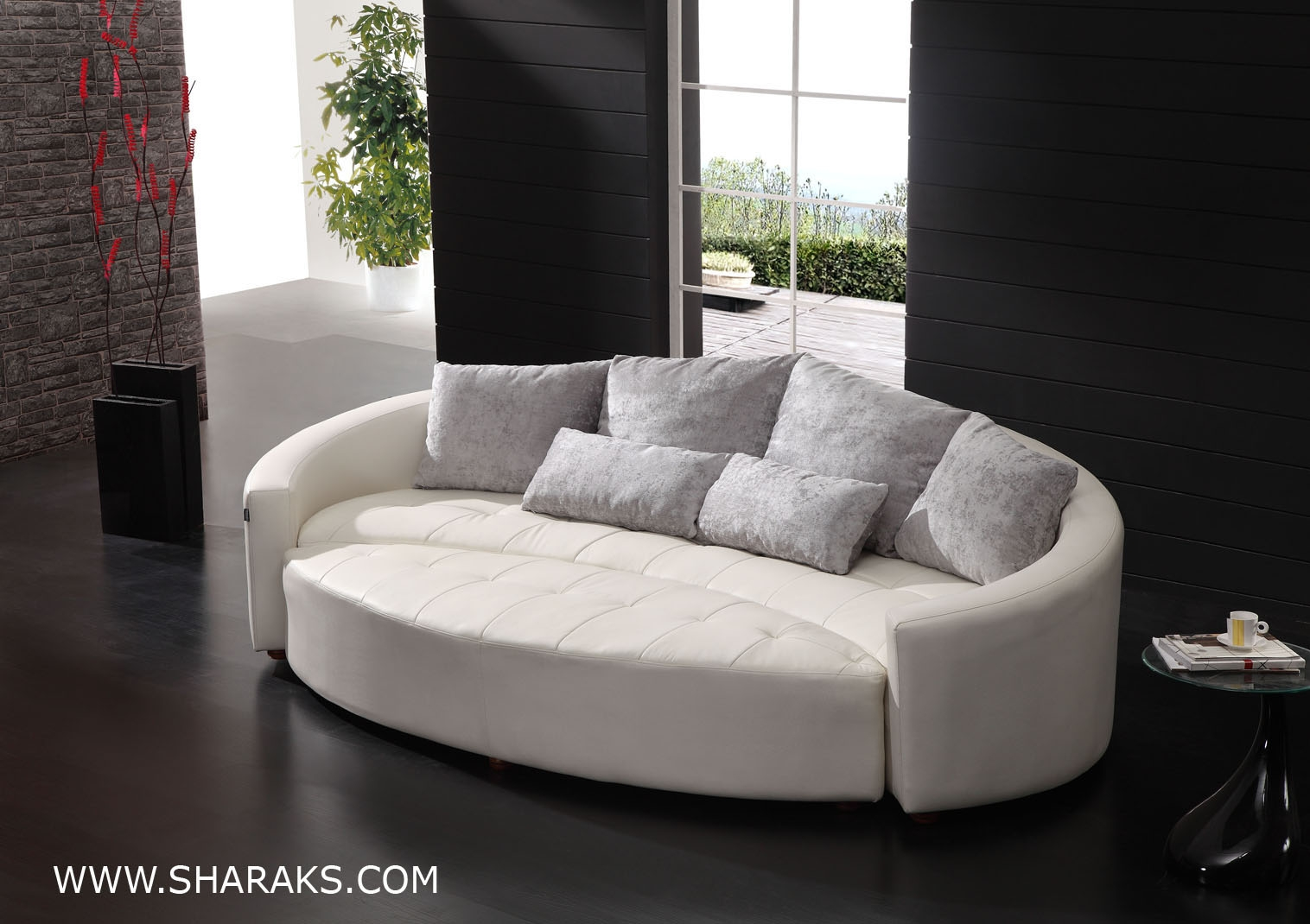 1000 Ideas About Enclosed Bed On Pinterest: 12 Ideas Of Contemporary Curved Sofas